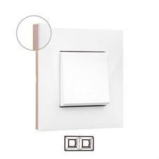 LEGRAND 741022 Placa VALENA NEXT con 2 elementos blanco/oro rosa