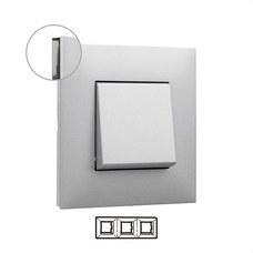 LEGRAND 741033 Placa VALENA NEXT con 3 elementos aluminio
