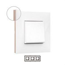 LEGRAND 741023 Placa VALENA NEXT con 3 elementos blanco/oro rosa