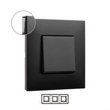 LEGRAND 741053 Placa VALENA NEXT con 3 elementos dark