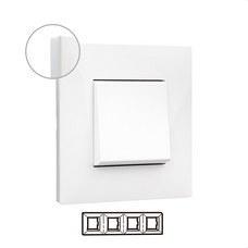LEGRAND 741004 Placa VALENA NEXT con 4 elementos blanco