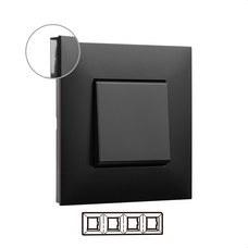 LEGRAND 741054 Placa VALENA NEXT con 4 elementos dark