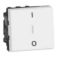 LEGRAND 077050L Interruptor Bipolar Mosaic EasyLed 2 módulos 20AX, blanco