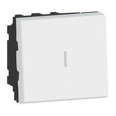 LEGRAND 077021L Cruzamiento Mosaic EasyLed 2 módulos 10AX, blanco