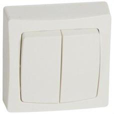 LEGRAND 086020 Mecanismo doble interruptor con visor serie cuadrada OTEO