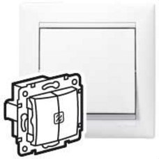 LEGRAND 774212 Doble conmutador luminoso VALENA blanco