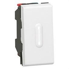 LEGRAND 077032 Pulsador inversor con visor 1 módulo MOSAIC-II