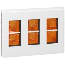 LEGRAND 078873 Caja mecanismos empotrar MOSAIC-II 3 columnas blanco