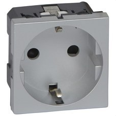 LEGRAND 079213 Toma 2P + TT lateral MOSAIC-II aluminio