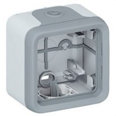 LEGRAND 069651 Caja superficie plexo 1 elemento con conos gris