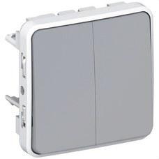 LEGRAND 069525 Conmutador doble E/S plexo gris