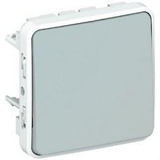 LEGRAND 069540 Pulsador 10A E/S plexo gris