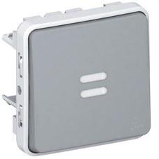 LEGRAND 069542 Pulsador luminoso E/S plexo gris