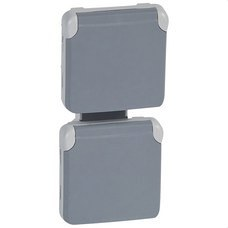 LEGRAND 069577 Toma 2xP + TT vertical E/S plexo gris