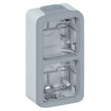 LEGRAND 069661 Caja superficie vertical plexo 2 elementos con conos gris