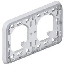 LEGRAND 069683 Caja empotrar horizontal 2 posiciones plexo gris