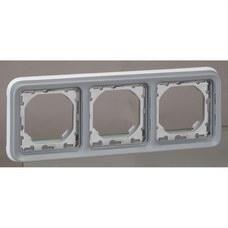 LEGRAND 069687 Caja empotrar horizontal 3 posiciones plexo gris