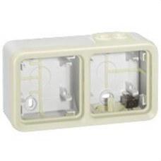 LEGRAND 069690 Caja superficie horizontal 2 posiciones plexo blanco