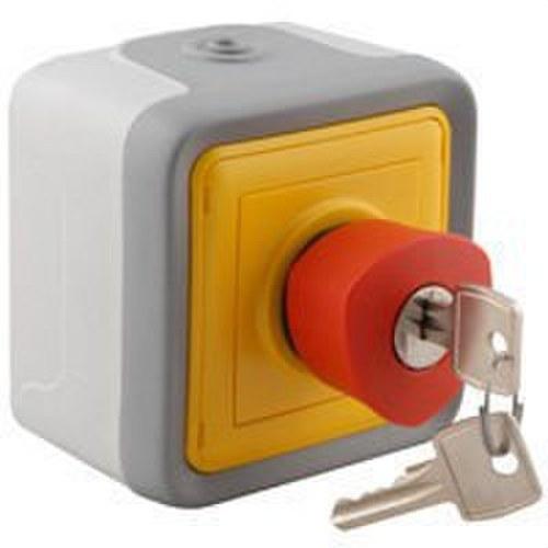 Pulsador emergencia llave superficie plexo