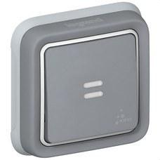 LEGRAND 069821 Pulsador luminoso empotrar plexo gris