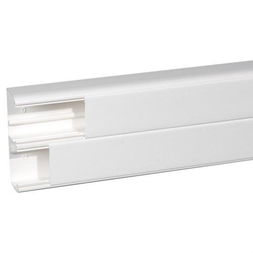 Canal monobloc 50x150mm 2 compartimentos PVC blanco