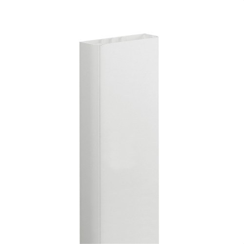 Canal monobloc 50x105mm PVC blanco