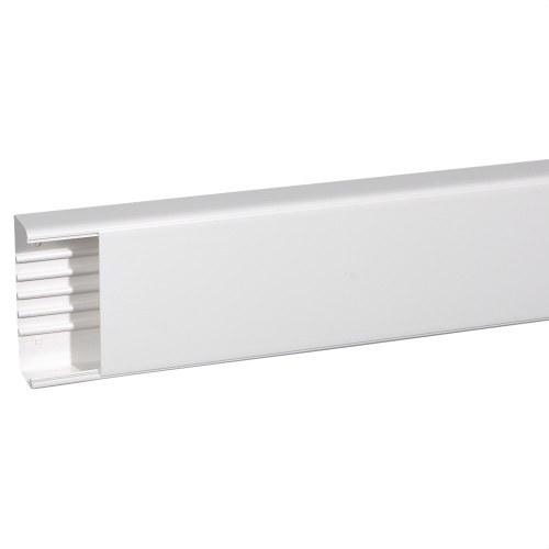 Canal monobloc 65x195mm PVC blanco