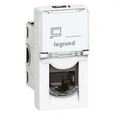 LEGRAND 076561 Toma RJ45 categoría 6 UTP 1 módulo blanco