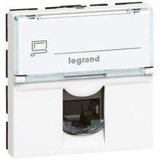 LEGRAND 076564 Toma RJ45 categoría 6 UTP 2 módulos blanco