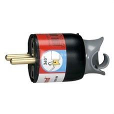 LEGRAND 050173 Clavija 2P + TT 16A rotativa GSB negro