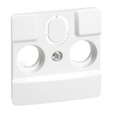 LEGRAND 664767 Frontal TV NILOE 2-3 agujeros blanco