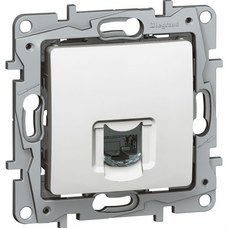 LEGRAND 664773 Conector NILOE RJ45 categoría 6 UTP blanco