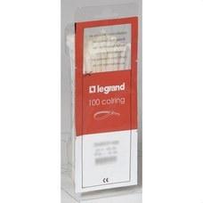 LEGRAND 032061 Collarín + placa señalización P6/6 incolora diámetro 4 18mm
