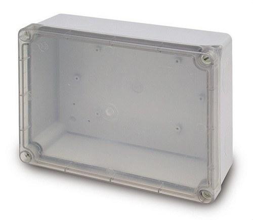 Caja estanca rectangular 220x170 con tapa transparente