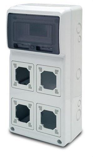 Caja 506x230x130 8 elementos 4 módulos Acqua Combi IP65