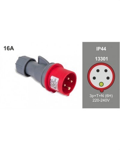 CLAVIJA AEREA 3P+N+T 16A 400V IP44