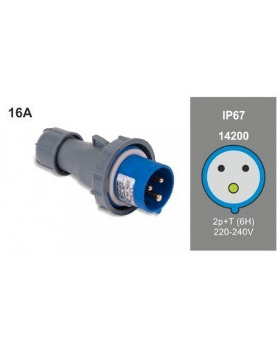 CLAVIJA AEREA 2P+T 16A 230V IP67