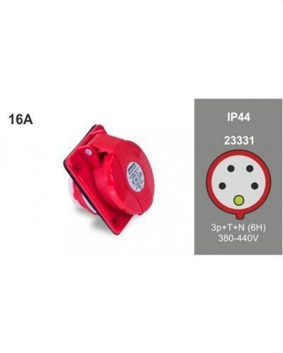 BASE INCLINADA 10° 3P+N+T 16A 400V IP44 75X85