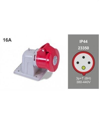 BASE PARED 90° 3P+T 16A 400V IP44