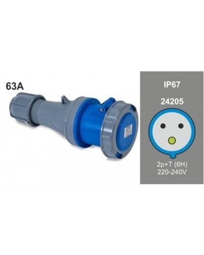 BASE AEREA 2P+T 63A 230V IP67
