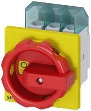 SIEMENS 3LD2203-0TK53 Interruptor 3LD2 3 polos 32A 4 orificio frontal rojo / amarillo