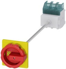 SIEMENS 3LD2514-0TK53 Interruptor 3LD2 3 polos 63A 4 orificio base rojo / amarillo