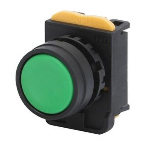 Pulsador con protección sin iluminación verde