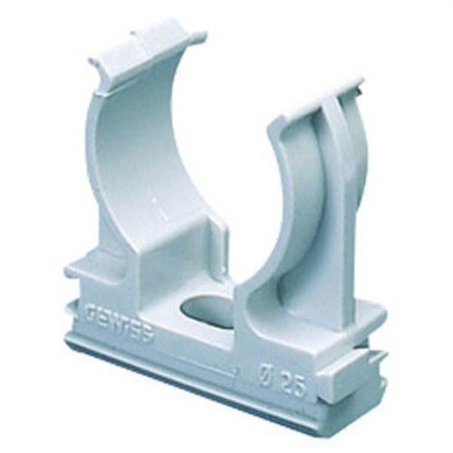 Soporte de presión en polímero antichoque 25mm gris RAL7035