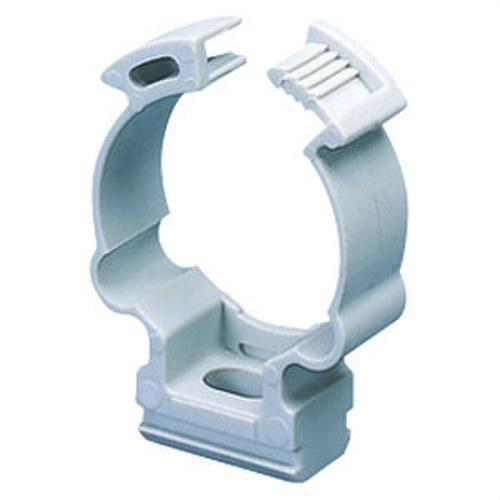 Collarín de soporte en polímero tubo 25mm gris RAL7035