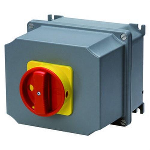 Interruptor rotativo de superficie 3 polos 16A maneta roja ATEX