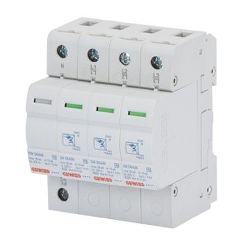 Descargador 3 polos+neutro 20kA tipo 2
