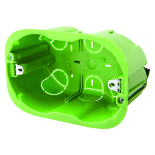 Caja pared ligera con 3 módulos verde