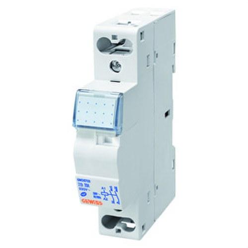 Contacto 90 AM 230V 2 NA 20A con 1 módulo blanco
