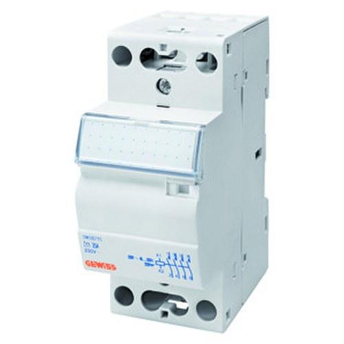 Contacto 90 AM 230V 4 NA 25A con 2 módulos blanco